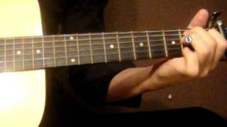 Guitar lesson Sienna Skies - Breathe guitar lesson + solo