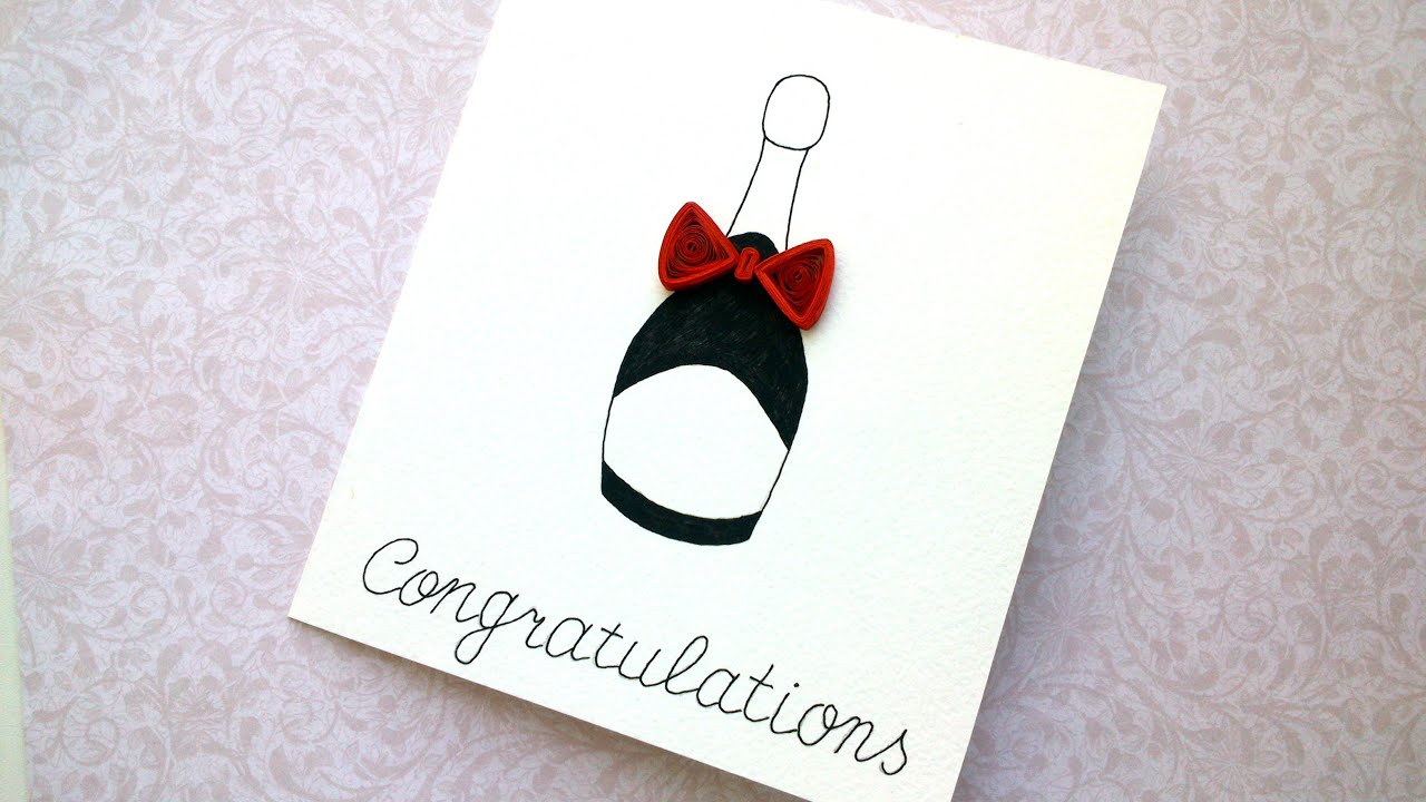 How to Make Simple Quilling Card Wedding card Birthday card