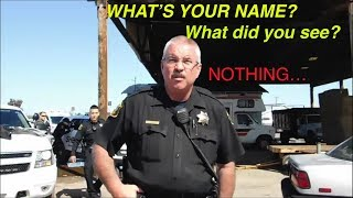 Cop-watching Modesto CA. 9th street. (what did you see?? what's your name??)
