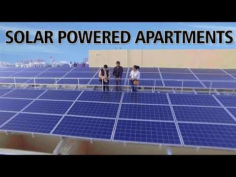 Solar Powered Apartments | 41.28 kW Solar Power | 5000 units per month