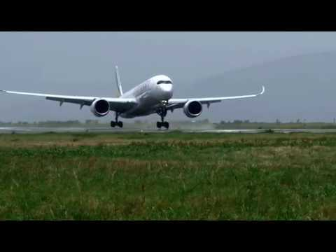 Ethiopian Airlines A350 Land in Abuja Nigeria