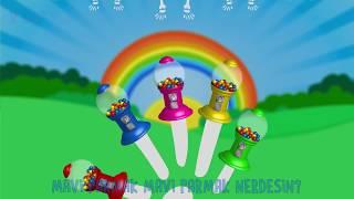 Niloya Tospik İbi Pepe Jet Sakız Makinesi ile Parmak Aile Şarkısı Söylüyor | Renkler ve İskelet