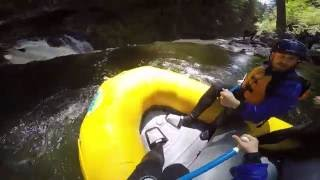 Rafting the White Salmon (Farmlands) to Lava Dam Falls portage