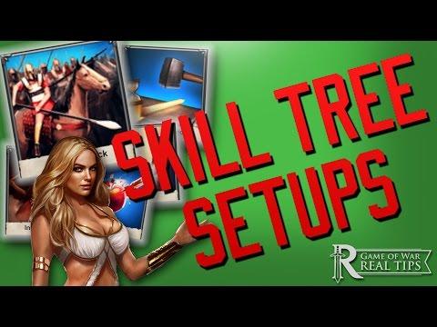 GAME OF WAR: BEST SKILL TREE SETUPS