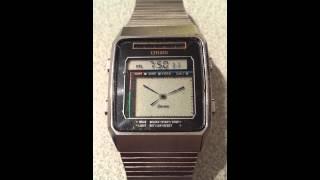 Citizen Seven CR-2014 Vintage Analogue Digital Watch