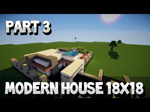 Minecraft Lets Build Modern House 18x18 Part 1 YouTube