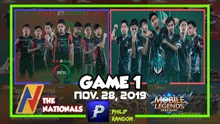 [GAME 1] PSO VS HFE | THE NATIONALS ML CONFERENCE 2 | DAY 11 | Mobile Legends