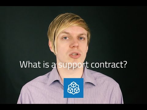 What is a support contract?