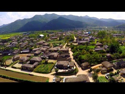 Andong Hahoe Folk Village, Hanok Stay - 3DR Solo - GoPro HD