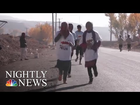 Afghan Women Risk Death Threats in Marathon Dash Toward Better Future | NBC Nightly News