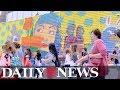 Artists create colorful murals near World Trade Center & Oculus