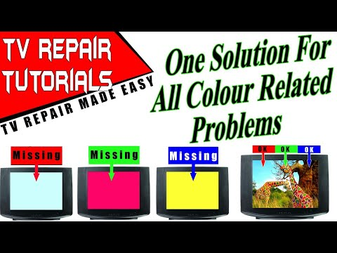 tv repair color problems | red color picture | color fault | china tv repairing | crt tv | yellow