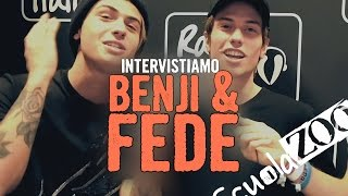Intervista a Benji & Fede - ScuolaZoo e Radio Italia - Milano
