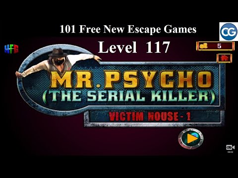 101 Free New Escape Games Level 117- Mr Psycho The Serial Killer VICTIM's HOUSE 1 - Complete Game