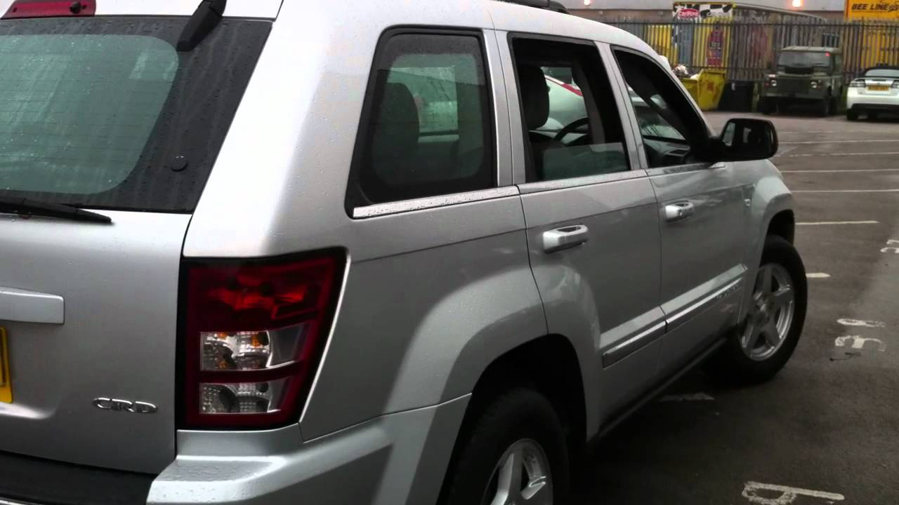 2006 jeep grand cherokee 3 0 crd limited 5dr auto silver