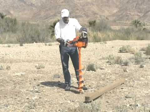 Lewis Multi Drill 6 inch earth auger drills post hole to build a fence