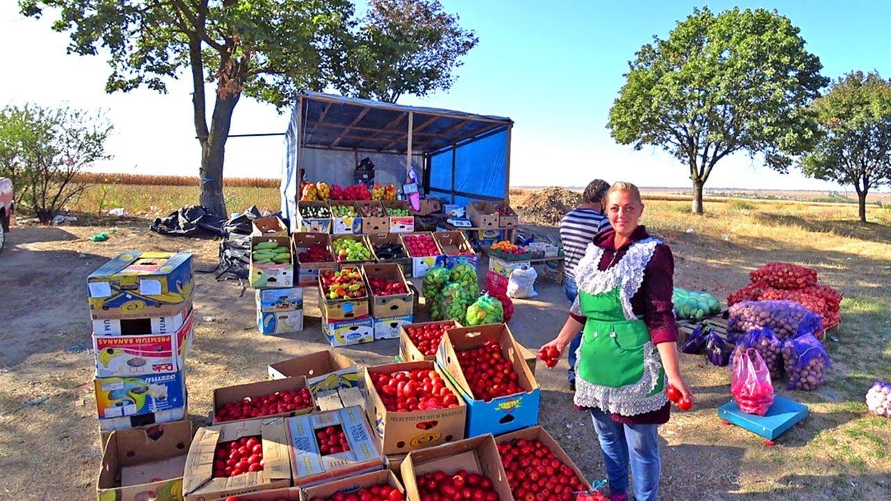 Рынок на трассе Одесса Рени Цены на сельхозпродукцию в Украине