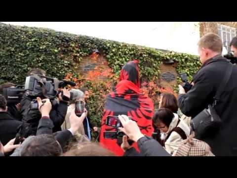 Unveiling of Skanderbeg bust in London - 28.11.2012