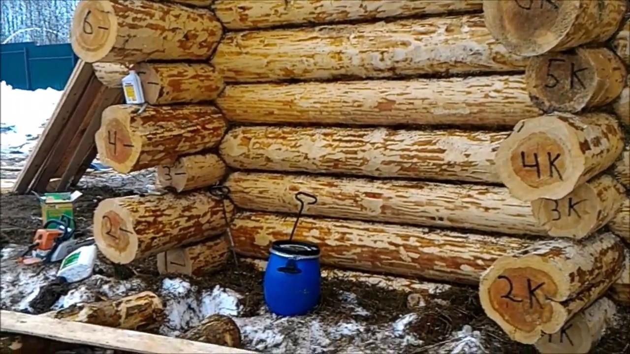 Обработка сруба зимой пропиткой и зимним антисептиком для древесины. Зимние пропитки для дерева.
