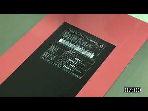 Color Laser Film laser marking labels automotive industry