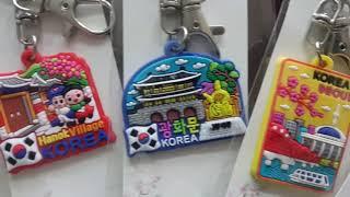 한국관광지 컬러풀 러버 열쇠고리(10개),외국인선물,전…