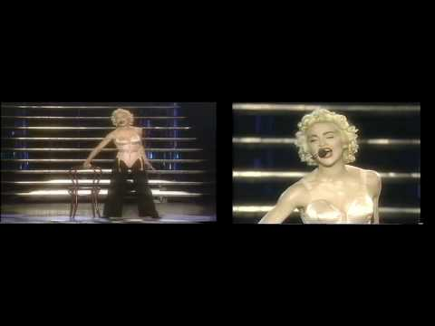 Madonna: Open Your Heart (split-screen live in France 1990)