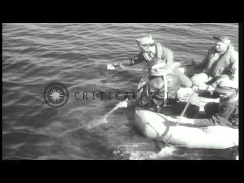 U.S. Army Information film about air sea rescue using B-17 and A-24 aircraft and ...HD Stock Footage