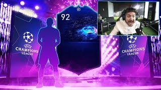 INSANE UCL PREMIUM UPGRADE PACKS!! 92 RATED WALKOUT!! FIFA 19