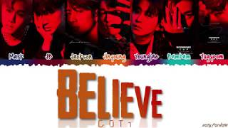 Got7 갓세븐 Believe Color Coded Han Rom Eng MP3