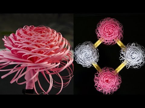 How To Make A Paper Flowers - Wall Decoration ideas - Paper Flower Wall Hanging