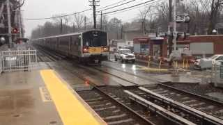 MTA LIRR Bombardier M7 leaving Little Neck late with a 1:52 train to Penn Station
