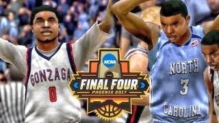 MARCH MADNESS NATIONAL CHAMPIONSHIP UNC vs GONZAGA! College Hoops 2K8 Gameplay Ep. 2