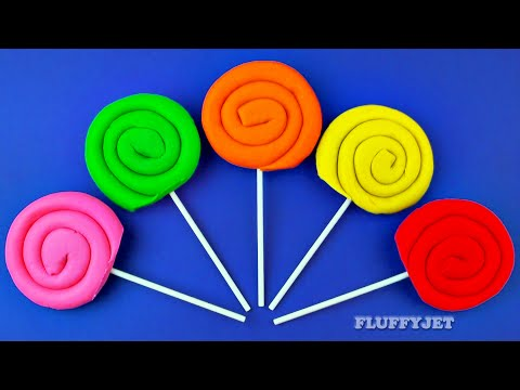 Learn Colours with Play Doh Lollipops for Children Play & Learn with Toys