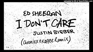 Ed Sheeran & Justin Bieber ft Koffee & Chronixx - I Don't Care Remix