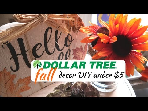 DIY DOLLAR TREE FALL DECOR | DOLLAR TREE DIY | UNDER $10 | BUDGET FRIENDLY DECOR