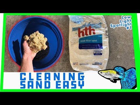 HOW TO: Clean Aquarium Sand || Low Light Spotlight #1