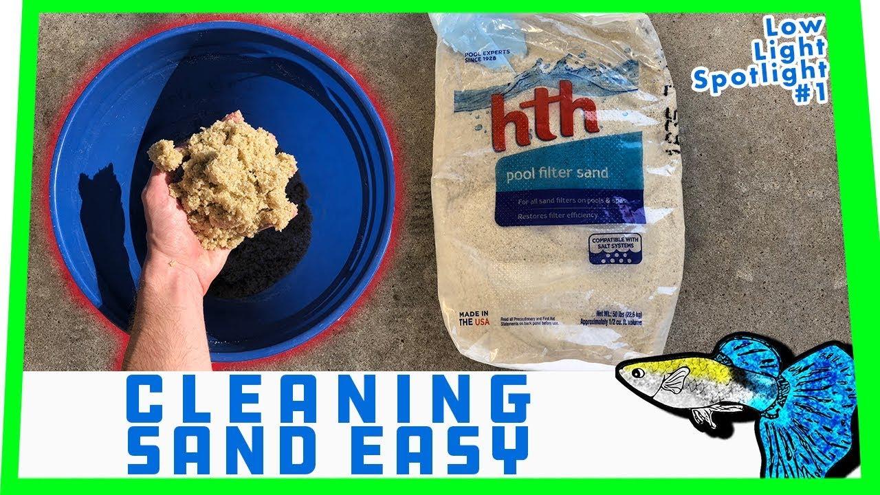 HOW TO: Clean Aquarium Sand || Low Light Spotlight #1 - BX