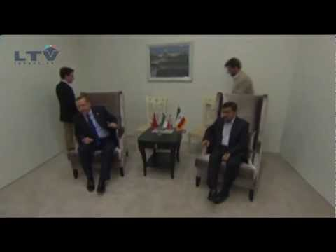 Ahmedinejad meets Erdogan in AzerBaijan