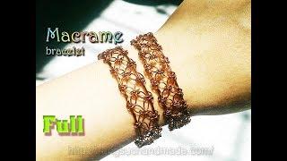 basic Macrame Bracelet Tutorial - Unisex cuff bracelet - full version ( slow ) 289