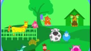 Развивающий мультфильм для детей от 12 до 36 месяцев! ВЕСЕЛАЯ ФЕРМА   учим животных!!!