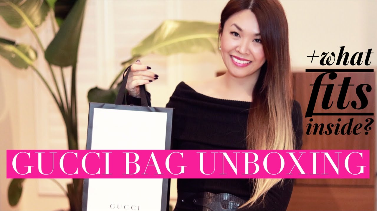 9b9723fc3c0 GUCCI MARMONT BAG UNBOXING + What fits inside