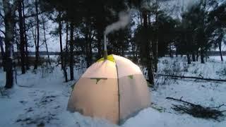Палатка для зимней рыбалки Обзор палатки лотос 3 Печь для палатки Берег Экономка Малая