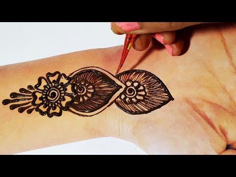 Stylish Mehndi design - Easy & New Arabic Henna Mehndi Design Trick for Hands - हाथो पे मेहँदी लगाये