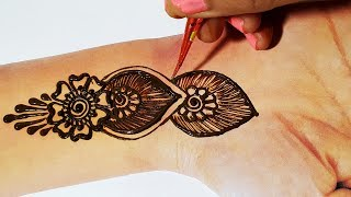 Stylish Mehndi design - Easy & New Arabic Henna Mehndi Design ...