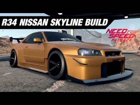 NFS Payback: Widebody R34 Skyline Customization