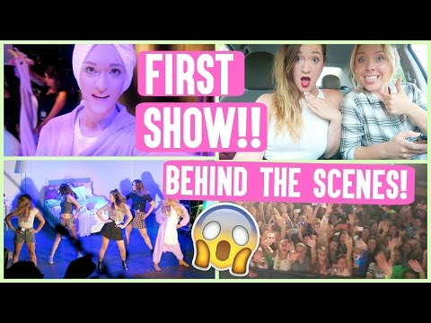 OUR FIRST SHOW!!!! BEHIND THE SCENES!! #GIRLSNIGHTIN