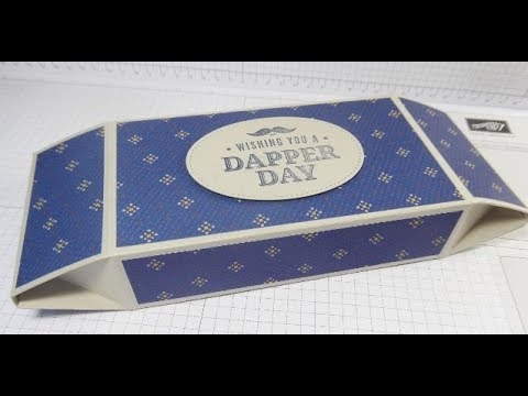 Gentleman's Tie Box With Double Opening Faceted Ends - True Gentleman DSP from Stampin' Up