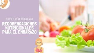 Recomendaciones nutricionales para el embarazo | Cápsulas Conceptum