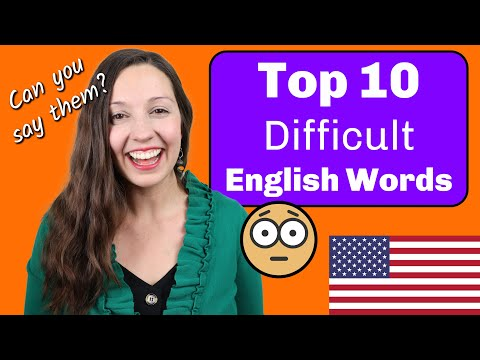 Top 10 MOST Difficult Words in English: Pronunciation lesson