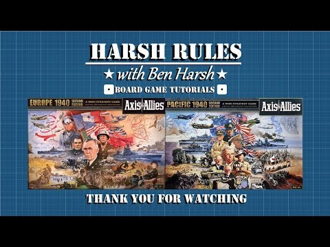 Harsh Rules: Let's Learn to Play - Axis & Allies: Global 1940